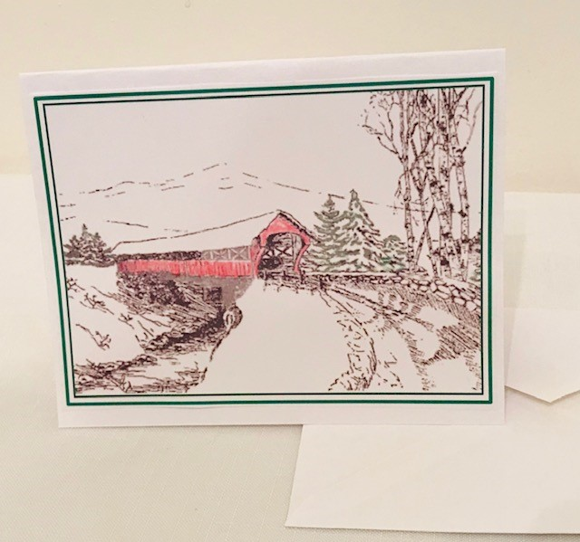 "Christmas Cards | Covered Bridge | Set of 12 | 4.25"" x 5.50"""