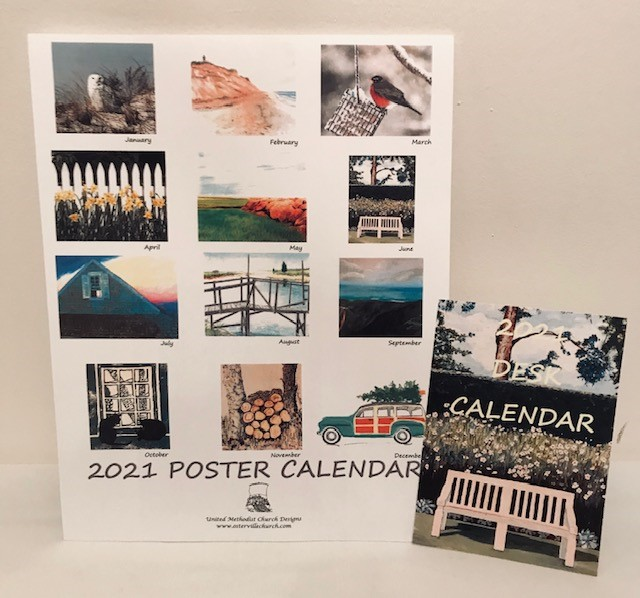 United Methodist Church of Osterville 2021 Calendar - Large 11 x 14 Poster Size