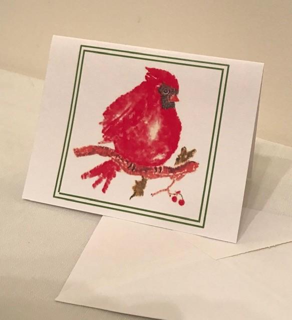 Christmas Cards | Cardinal | Set of 12 | 4.25