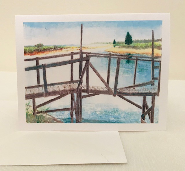 Note Cards | Dock | Set of 12 | 4.25