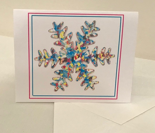 "Christmas Cards | Snowflake | Set of 12 | 4.25"" x 5.50"""