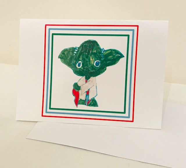"Christmas Cards | Little Yoda | Set of 12 | 5"" x 7"""