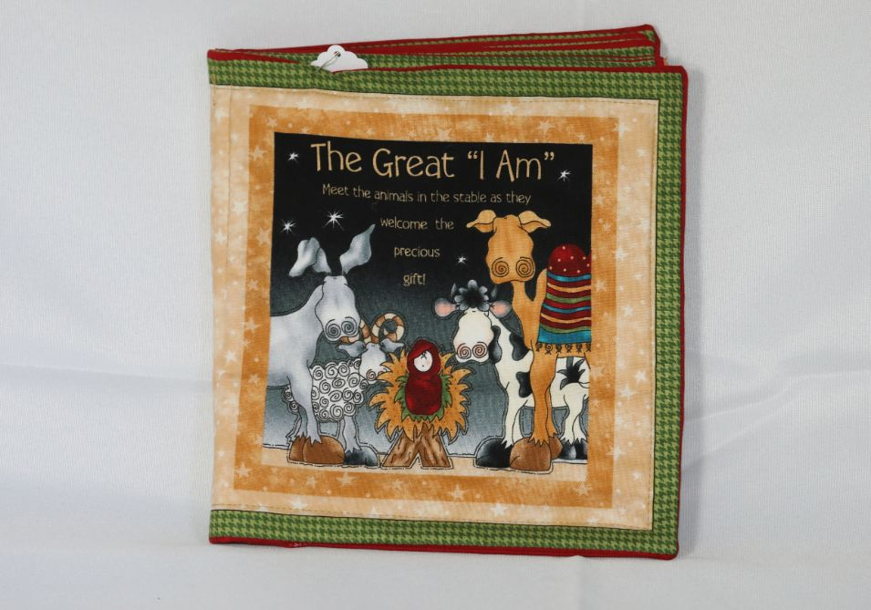 """Soft pillow cloth book, """"The Great 'I Am'"""", story of Christmas."""