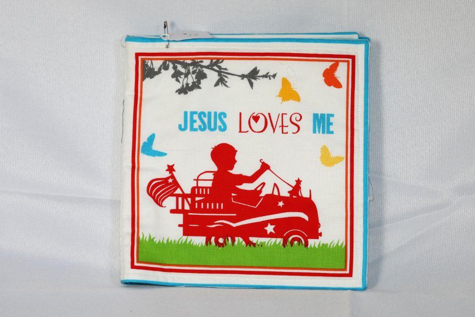 "Soft pillow cloth book, ""Jesus Loves Me"""