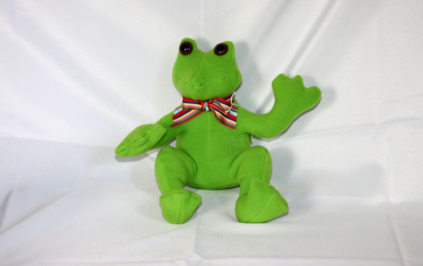 Sitting Stuffed Frog